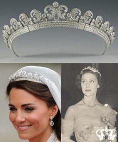 Coronas Royal Crown Jewels, Royal Crowns, Royal Tiaras, Royal Jewelry, Tiaras And Crowns, Vintage Jewelry, Antique Jewelry, Kate Middleton Wedding Tiara, Queens Jewels
