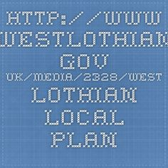 Local Plan text for W Lothian