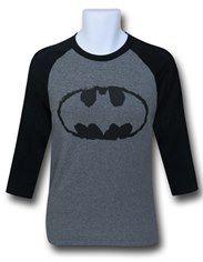 Batman Symbol Grey Raglan T-Shirt