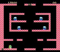 Bubble Bobble - honoring my very best friend, Meghan! You are missed and memories of the hours we spent playing this are cherished 80s Video Games, Video Game Posters, Classic Video Games, Space Invaders, Bubble Bobble Game, Giant Bomb, Sega Master System, Retro Arcade, Anime Fnaf