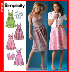 Sewing Patterns Free, Free Sewing, Clothing Patterns, Pattern Library, Simplicity Patterns, Projects To Try, Summer Dresses, Manga, Clothes