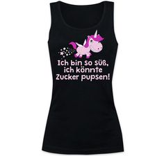 Ich bin so süß Girlie Tanktop Shops, Graphic Tank, Shirts For Girls, Athletic Tank Tops, Unicorns, Tags, Fashion, Sugar, Cotton