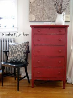 Number Fifty-Three: Antique Red Dresser