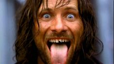 Viggo got a tooth knocked out filming a fight scene in LOTR. He asked to have it glued back on so he could keep filming
