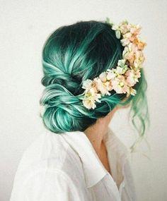 Forest Green Hair Chalk Salon Grade Temporary por GypseaPeach