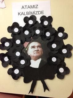 10 kasım atatürk çelengi 4 yaş proje çalışması Classroom Activities, Preschool Activities, Diy And Crafts, Crafts For Kids, Kindergarten Projects, Montessori Preschool, Class Decoration, Paper Gifts, Art School