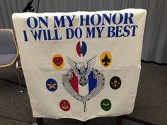 Eagle Scout court of honor flag