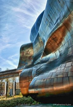 The Experience Music Project building designed by Frank Ghery, Seattle, WA