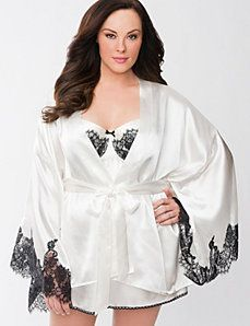 Charmeuse bridal robe