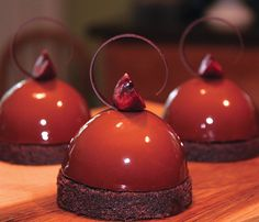 Dessert Professional   The Magazine Online - Sur del Lago Chocolate Mousse, Chocolate Cremeux, Cherry Compote and Chocolate Pound Cake