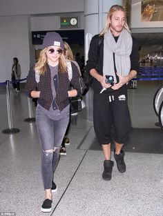 Chloe Grace Moretz and her brother - casual style