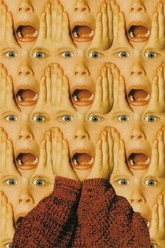 Image uploaded by . Find images and videos about funny, home alone and Macaulay Culkin on We Heart It - the app to get lost in what you love. Photomontage, Home Alone, Alone Art, Foto Art, Psychedelic Art, Wall Collage, Trippy, Textures Patterns, Aesthetic Wallpapers