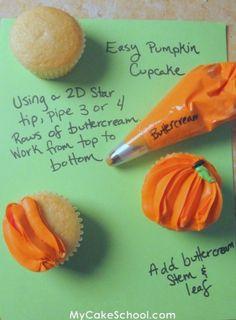 How to make some cute pumpkin cupcakes!