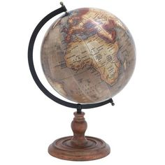 Wooden Globe with Distinctive Pattern in Rustic Color ($97) ❤ liked on Polyvore featuring home, home decor, wooden home decor, rustic home accessories, wood globe, rustic wood home decor and rustic home decor