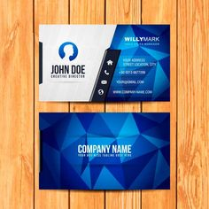 corporate green business card design vector free download visiting
