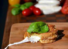 Muzzi in Caruzzi (mozzarella en carozza - Italian grilled cheese sandwich)