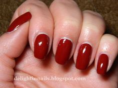 Delight in Nails: Nail-Aween Nail Art Challenge - Bloody Nails with China Glaze Adventure Red-y