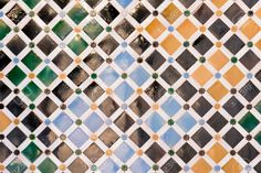 42087635-Mosaic-tiles-on-the-wall-of-Nazaries-palace-Alhambra-Spain-Stock-Photo.jpg (1300×866)