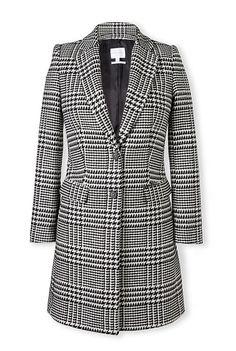 Plaid Jacquard Coat