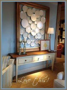 73 Cool Decorating Ideas For Large Living Room Wall - ROUNDECOR Cool decorating ideas for large living room wall 73 Plate Wall Decor, Plates On Wall, Hanging Plates, Interior Design Trends, Home Decoracion, Plate Display, Home And Deco, Küchen Design, Booth Design
