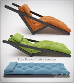 3d model: Other furniture - Figo Futon Chaise Lounge