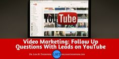 Today I am going to share with you my four step follow up questions process I use with my YouTube leads. If you're considering YouTube to build your business, you will find this helpful. Repin if you got value.  http://www.drlisamthompson.com/follow-up-questions/