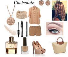"""Chocolate :)*"" by karolina-love ❤ liked on Polyvore"