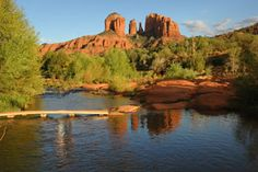 CHUCK & I WERE MARRIED HERE!!! Walked that little bridge and married RIGHT there!! Cathedral Rock-Sedona, AZ