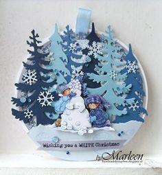 Marianne Design Challenge Blog Christmas Cards 2018, Merry Christmas Card, Christmas Baubles, Xmas Cards, Handmade Christmas, Holiday Cards, Christmas Crafts, Marianne Design Cards, Felt Christmas Decorations