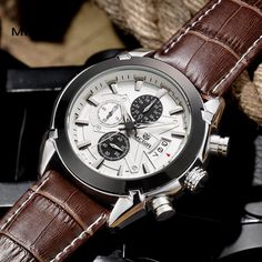 megir fashion leather sports quartz watch for man military chronograph wrist watches men army style 2020 free shipping Like and Share if you want this  #shop #beauty #Woman's fashion #Products #Watch