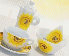 Decoro Solaria_tazze, coppe e caffettiera