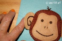 Monkey Face Applique Block - free template