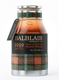 Balblair Scotch - comes with it's own tartan pouch