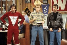 Robin Williams, Ron Howard, and Henry Winkler in 'Happy Days'