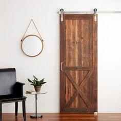 Spokane Reclaimed Wood Barn Door - Bourbon
