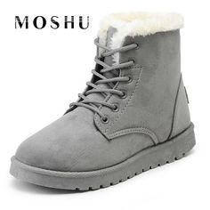 Classic Women Winter Boots Suede Ankle Snow Boots Female Warm Fur Plush Insole High Quality Botas Mujer Winter Shoes For Ladies Ankle Snow Boots, Short Ankle Boots, Snow Boots Women, Fur Boots, Suede Ankle Boots, Beige Boots, Warm Winter Boots, Winter Shoes For Women, Shoes Women