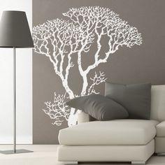 Bare Tree 68x84 White