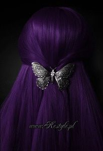 Now this is more like what I would like to do, dark purple hair <3 <3