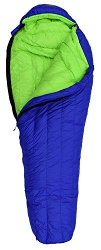 Hyke  Byke Down Sleeping Bag  Eolus 800 Fill Power 15 Degree F Bag for Backpacking BlueLime Green Long * For more information, visit image link. (This is an affiliate link) #SleepingBagsCampBedding