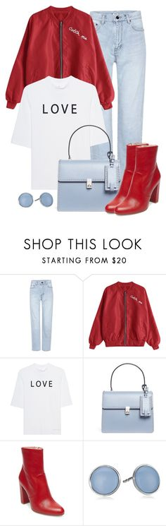 """Love"" by gallant81 ❤ liked on Polyvore featuring Yves Saint Laurent, Soufiane Ahaddach, Valentino, Steve Madden and Skagen"
