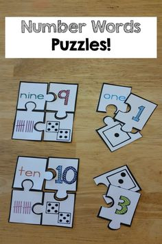 Number Words printables and activities! The kids learned number words so fast and with FUN puzzles and activities!