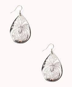 Filigree Teardrop Earrings | FOREVER21