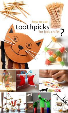 how to use toothpicks for kids crafts?