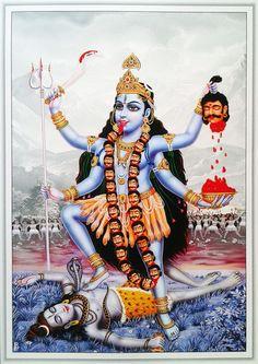 The Church of the Third Eye of Jesus Indian Goddess, Kali Goddess, Maa Kali Images, Maa Image, Mother Kali, Kali Mata, Vaishno Devi, Shiva Art, Durga Maa