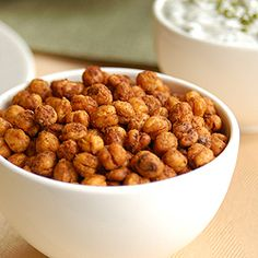 A healthy snack, crunchy like a corn nut, with the perfect flavor, a nice dose of protein and a little kick to wake your taste buds up.