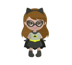 Batgirl Embroidery Design | Superhero Embroidery Pattern | Superhero Batgirl Applique Embroidery Design | Batgirl Machine Embroidery PDF by StitchValley on Etsy