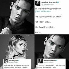 They are the cutest Sarah Hyland and Dominic Sherwood