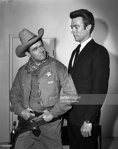 February 1 1962 MISTER ED Alan Young left and Clint Eastwood