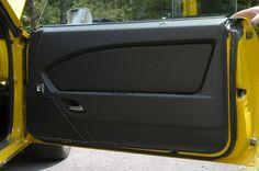 69 camaro yellow and black interior marquez design door panels