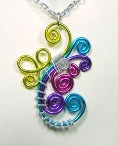 twisted anodized wire jewelry - Google Search